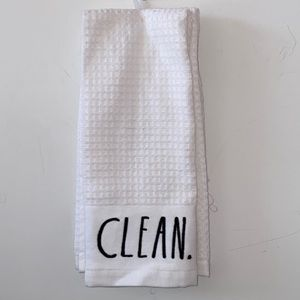 Rae Dunn Dishtowels CLEAN and DRY NWT